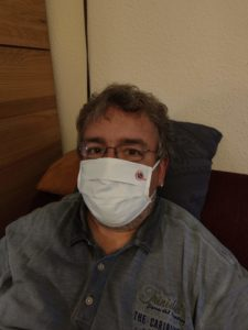 Der Vorsitzende der DVG-BB mit Mund-Nasen-Schutz