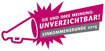 Logo Einkommensrunde 2015